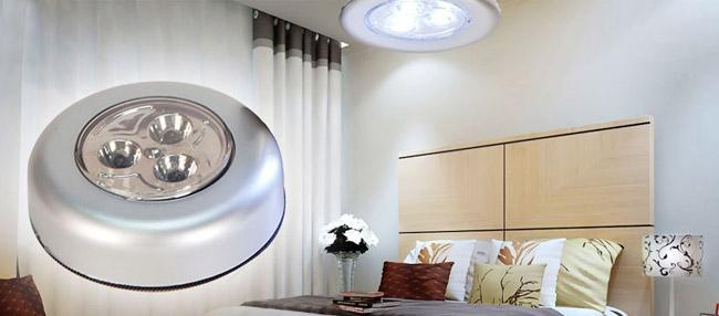 Đèn LED dán tường 3 bóng siêu sáng