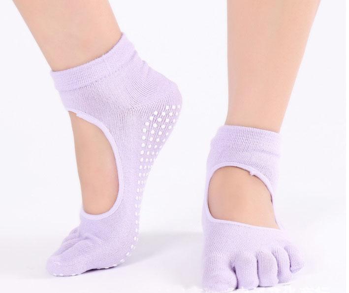 Vớ chân đính hạt tập yoga