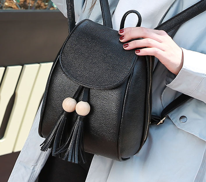 Balo túi nhỏ hạt gỗ thời trang, nhỏ gọn, tiện lợi
