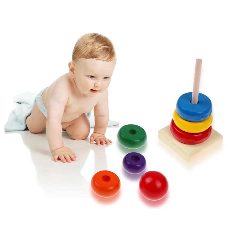 Bộ đồ chơi rainbow tower cho bé