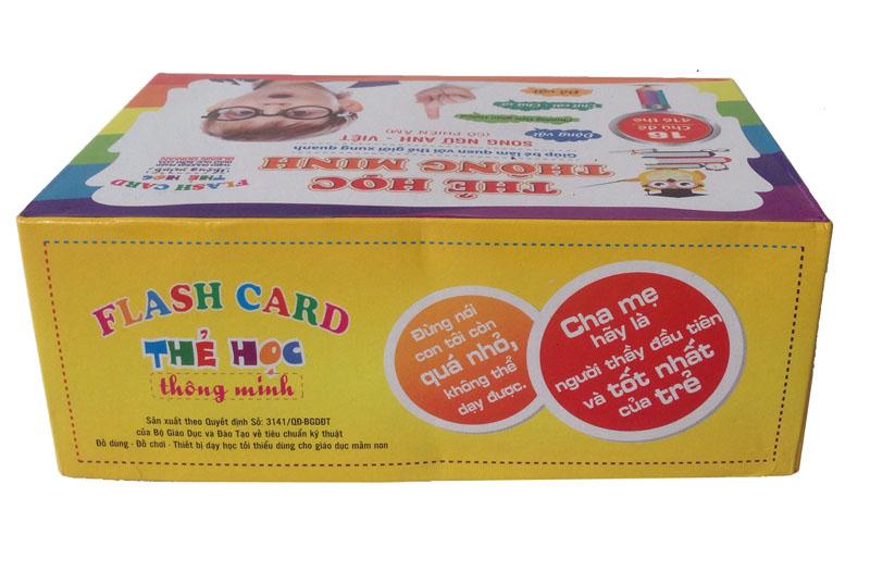 Bộ thẻ học thông minh Flash card 416 thẻ 16 chủ đề