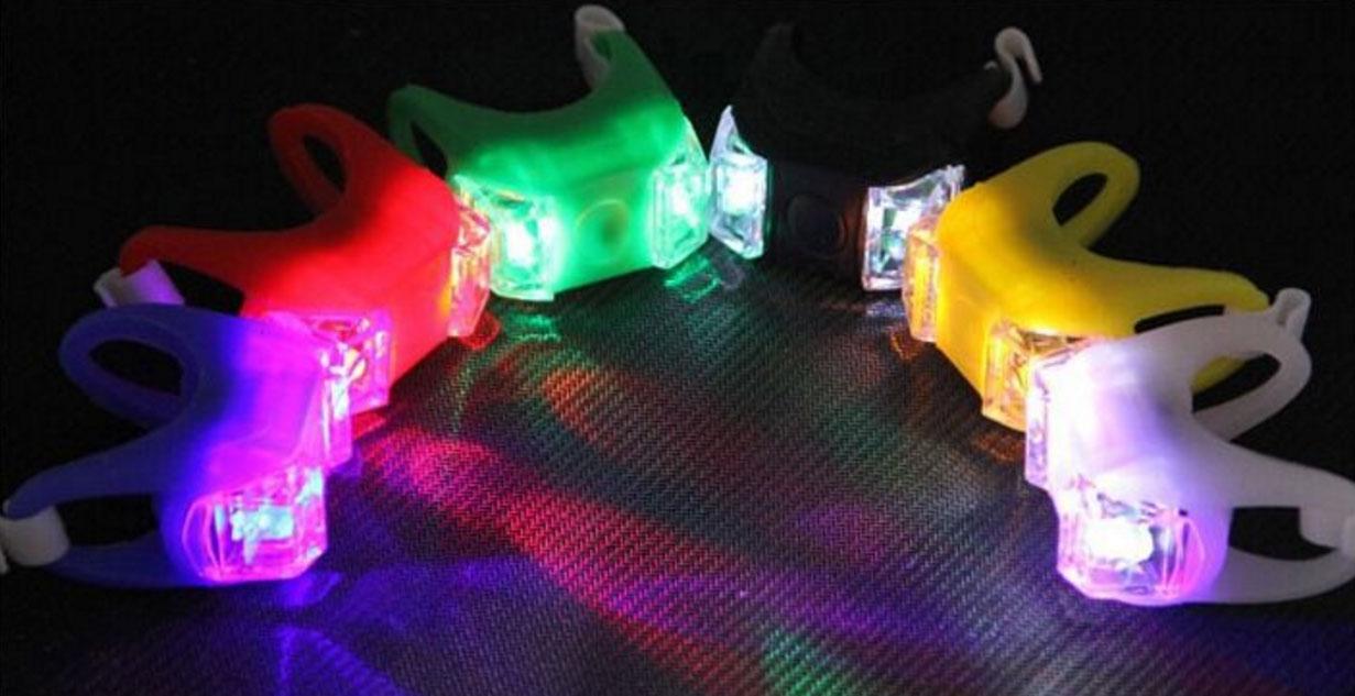 Đèn ếch silica gel gắn sau xe đạp