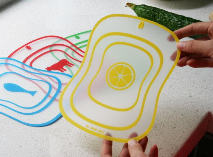 Bộ 4 Thớt nhựa nhiều màu đa năng siêu mỏng