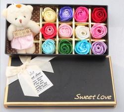Hoa H峄�ng 3D S谩p 12 B么ng K猫m G岷�u Sweet Love