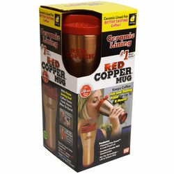 B矛nh gi峄� nhi峄�t Red copper Mug
