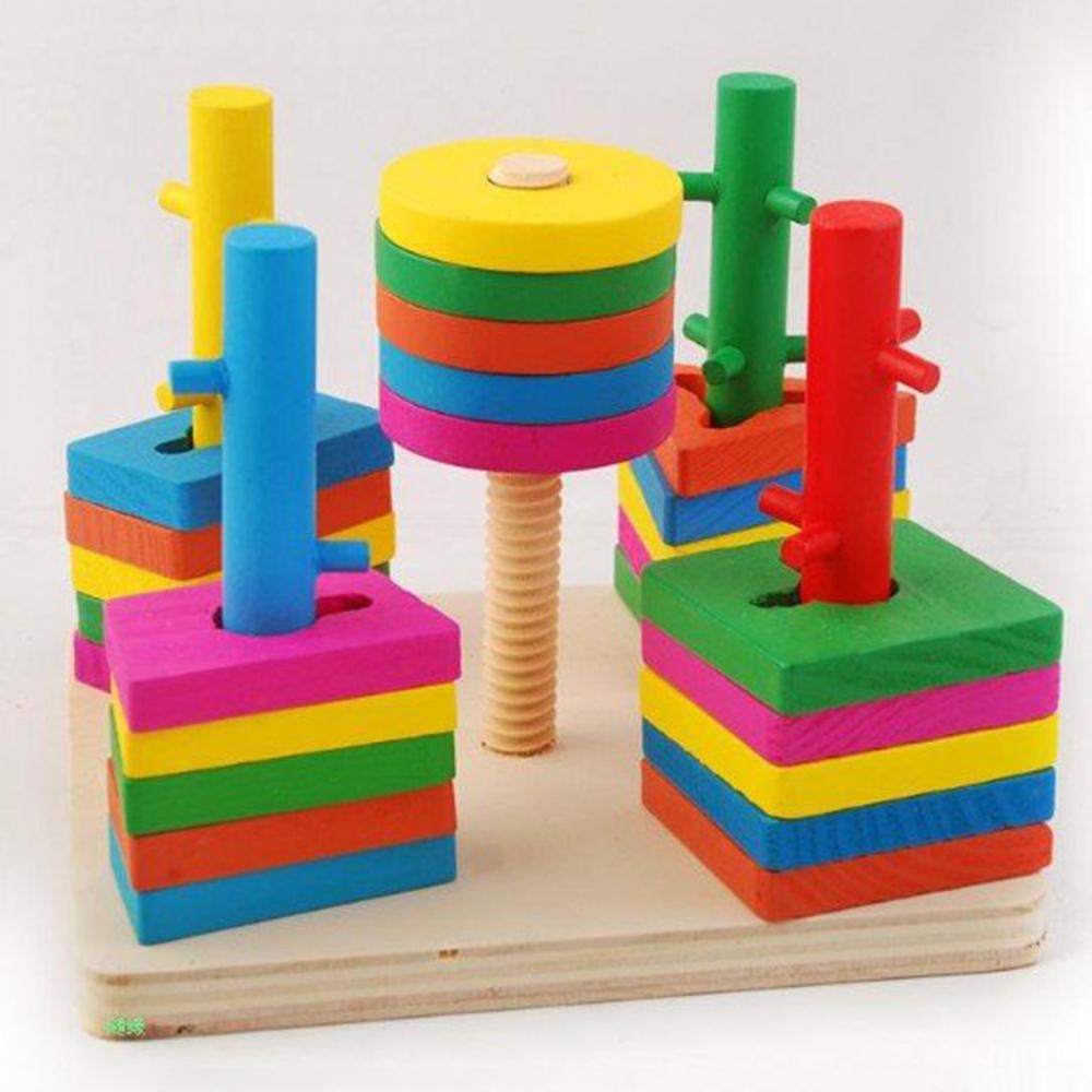 B峄� Wooden Toys Th岷� h矛nh 3D �岷� vu么ng 5 tr峄�
