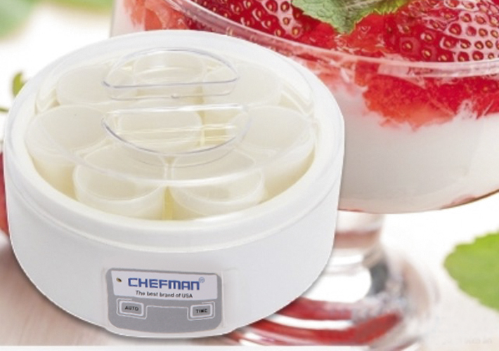 Máy làm sữa chua Chefman 8 cốc nhựa CM302