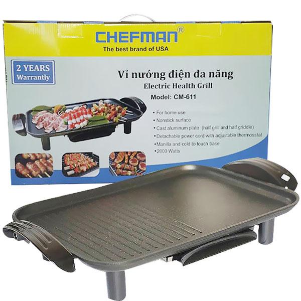 Bếp nướng điện không khói Chefman CM-611