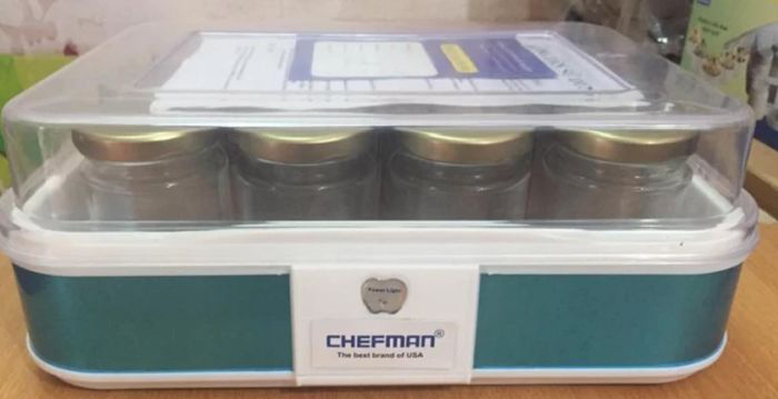 Máy làm sữa chua Chefman 12 cốc thủy tinh CM- 311T