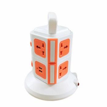 Ổ Điện 2 Tầng safety 8 ổ cắm 2 Cổng USB