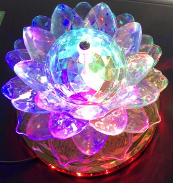 Đèn Xoay Hoa Sen 360 Độ Lotus Lantern