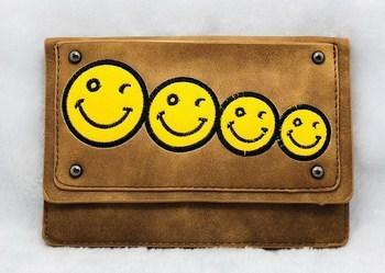 Túi xách đeo chéo 457 ngang 4 hình mặt cười