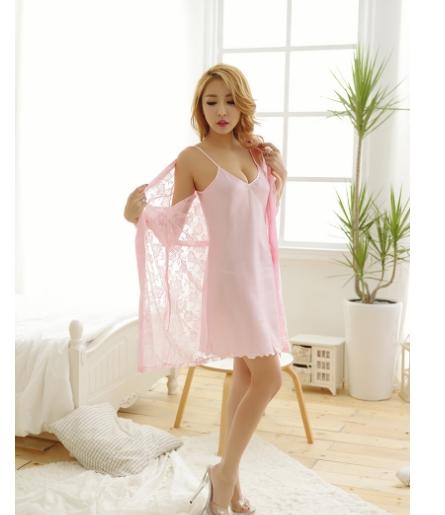 Váy ngủ gợi cảm kèm áo choàng ren