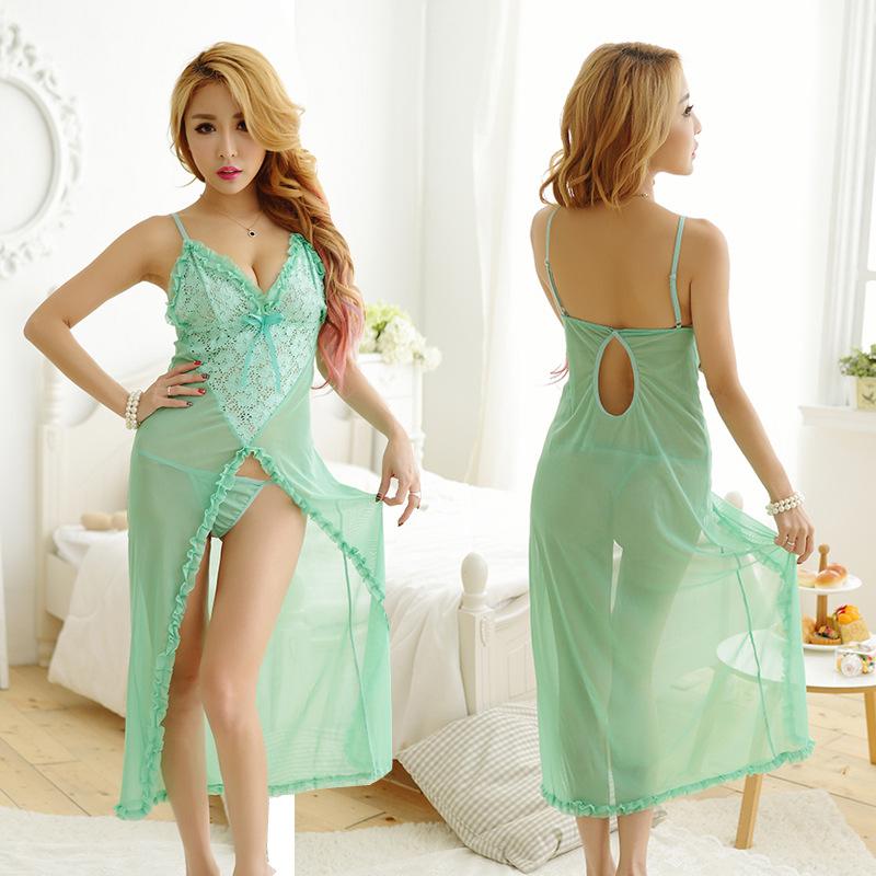 Đầm ngủ dài hình trái tim