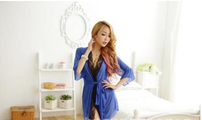 áo choàng ngủ phối ren
