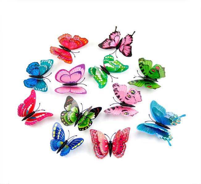 Combo 12 bướm dán tường 3d