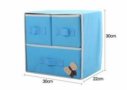 Tủ vải đựng đồ 3 ngăn