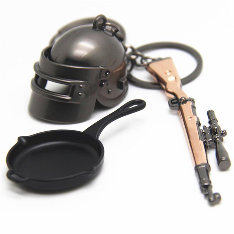 Combo 3 móc chìa khóa lựu đạn, súng, nón