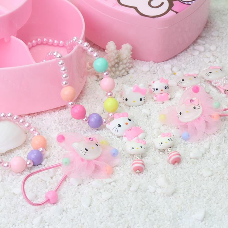 Hôp trang sức kẹp tóc 15 món kitty
