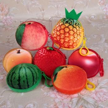 Ví đựng xu hình trái cây 3d