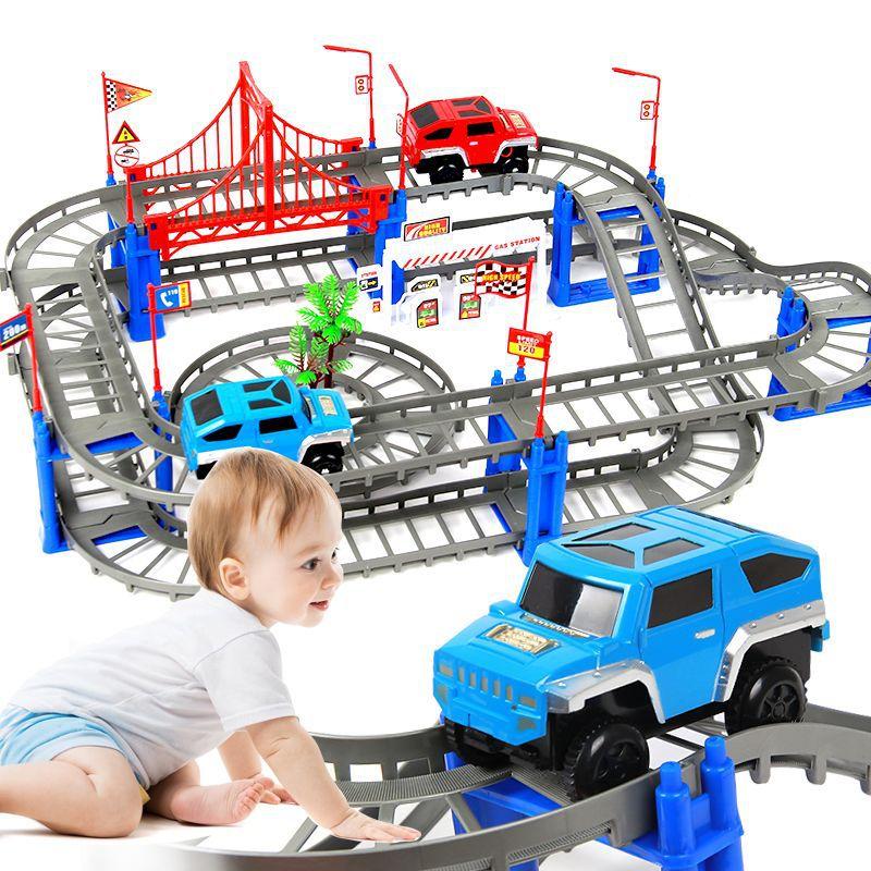 Lắp ráp mô hình đường ray xe ô tô
