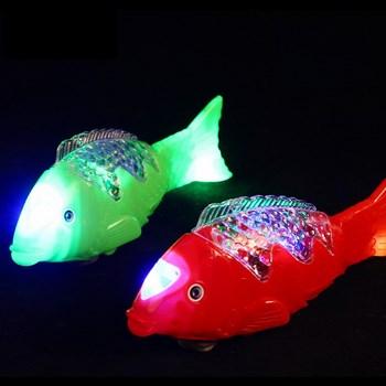 Đồ chơi cá chép phát đèn và nhạc (loại vân)