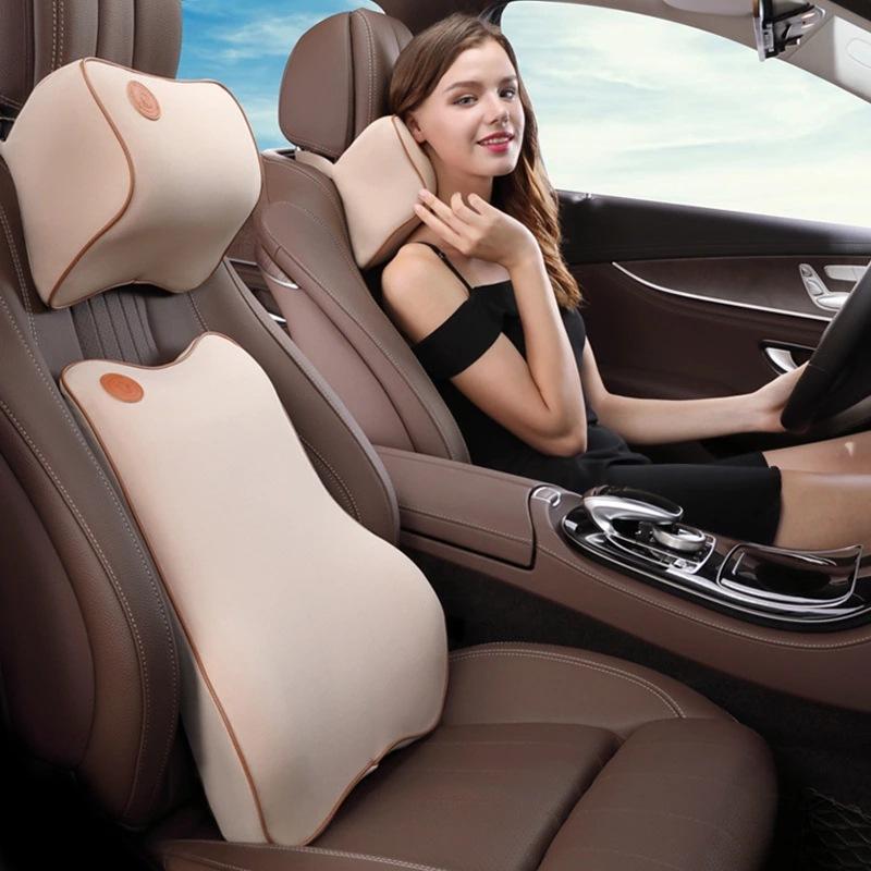 Bộ gối tựa đầu và tựa lưng xe hơi loại cao cấp