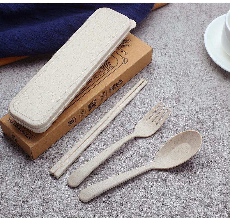 Bộ đũa muỗng nĩa lúa mạch