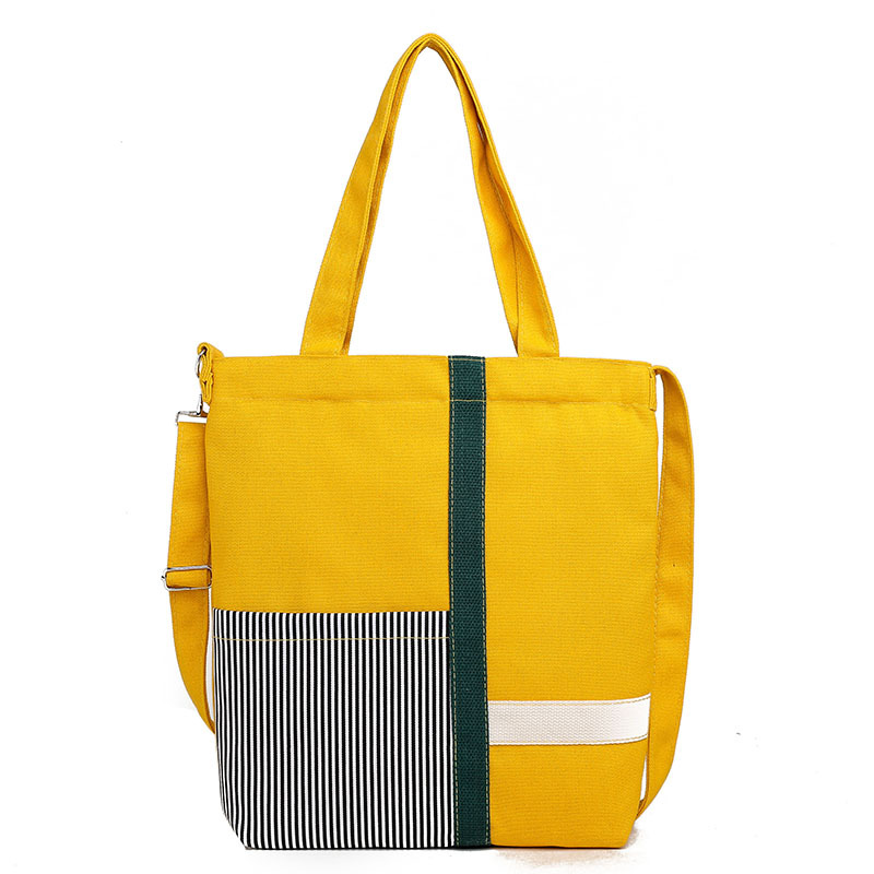 Túi xách vải mang vai hoặc đeo chéo hình sọc