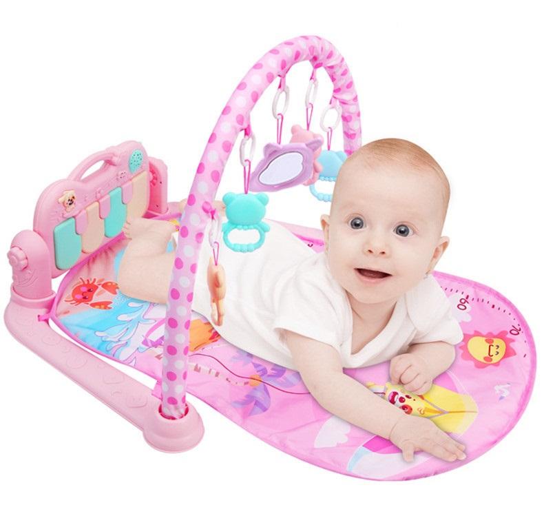 Thảm nằm có nhạc và đồ chơi cho bé