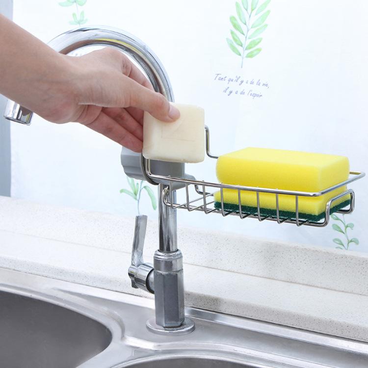 Khay inox gắn vòi nước