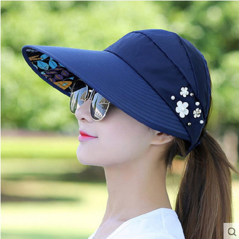 Mũ chống nắng hàng quốc có thể gấp lại