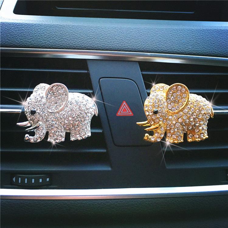 Nước hoa xe hơi hình con voi đính cườm