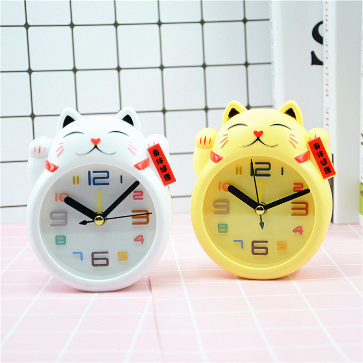 Đồng hồ để bàn hình mèo
