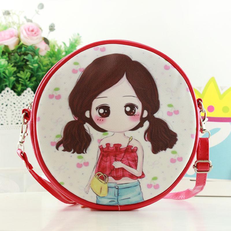 Túi xách hình tròn hình chibi 19cm (6 màu)