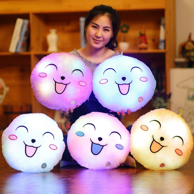 Gối tròng hình mặt cười có đèn (4 màu)