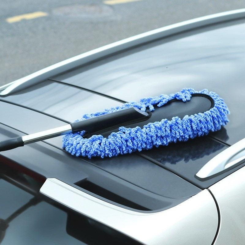 Bộ 2 dụng cụ lau chùi xe hơi (màu xanh)