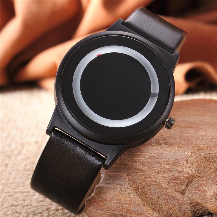 Đồng hồ thời trang nam và nữ mặt hình tròn phong cách hàn