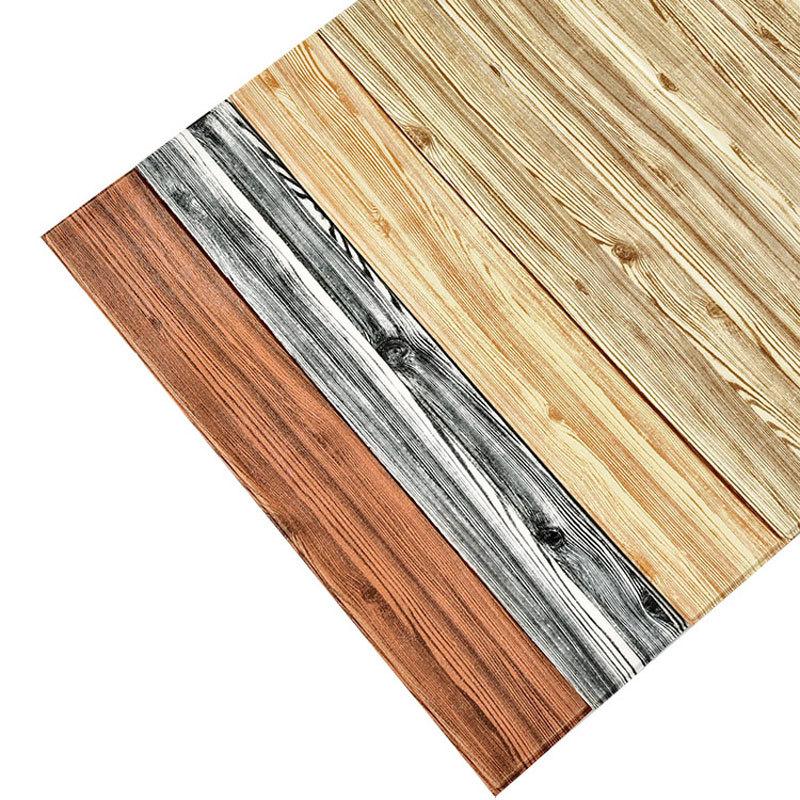 Giấy dán tường 3d hình gỗ 70x70cm