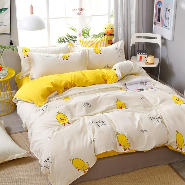 Bộ chăn gối ga giường 1m8 (hình vịt và dứa)