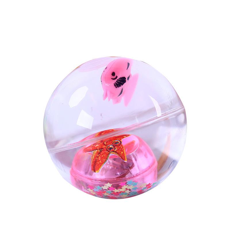 Quả bóng trong suốt có đèn và con cá đồ chơi cho bé