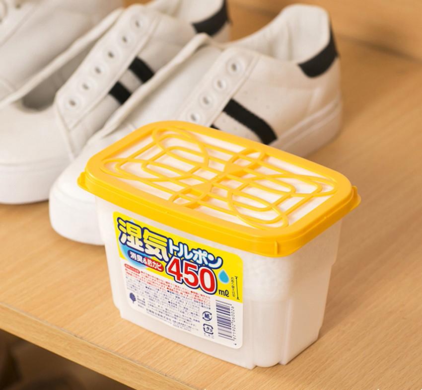 Hộp hút ẩm khử mùi Nhật Bản 450ml