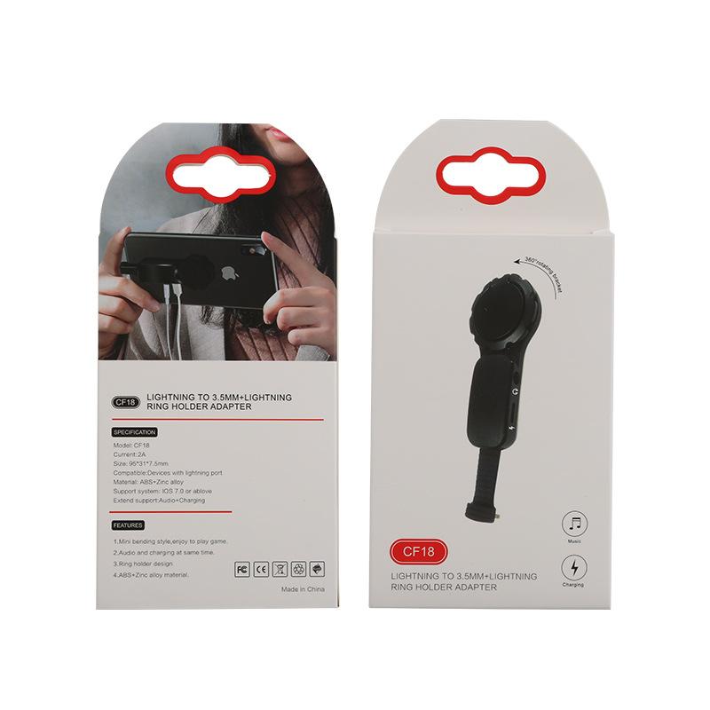 Bộ chuyển đổi tai nghe và dây sạc có giá đỡ điện thoại