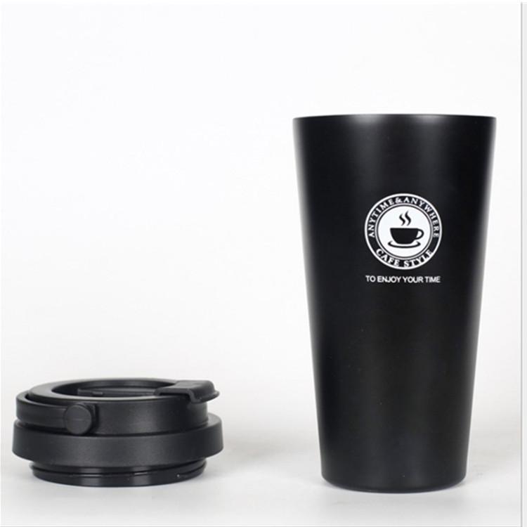 Ly inox cafe có nắp 500ml